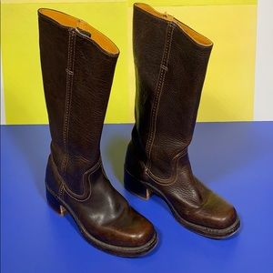 Frye Brown Leather Tall Boots 6